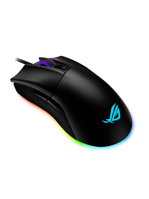 Image of   ASUS ROG Gladius II Origin - Gaming Mus - Optisk - 5 knapper - Sort med RGB lys