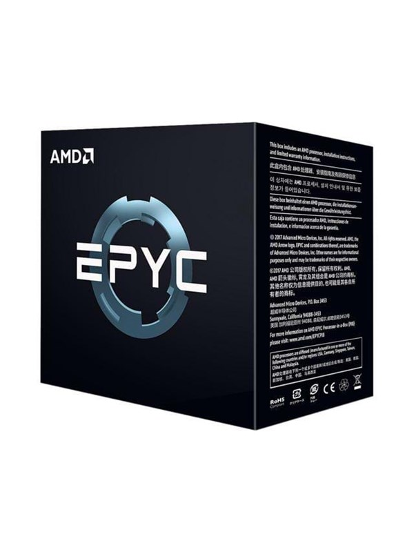 Image of   AMD EPYC 7351P CPU - 16 kerner 2.4 GHz - AMD SP3 - AMD Boxed (WOF - uden køler)