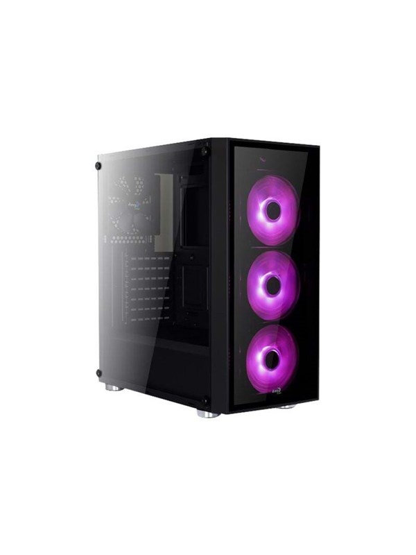 Image of   AeroCool Quartz RGB - Kabinet - Miditower - Sort