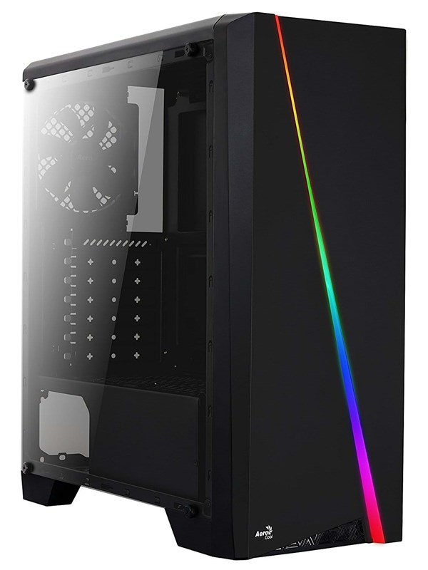 Image of   AeroCool Cylon RGB - Kabinet - Miditower - Sort