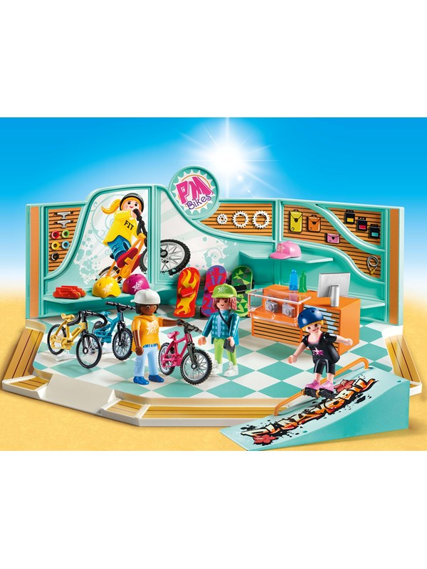 Image of   Playmobil City Life - Cykel- og skaterbutik