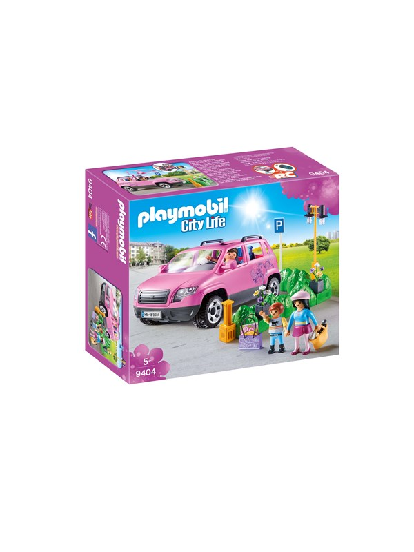 Image of   Playmobil City Life - Familiebil med parkeringsplads