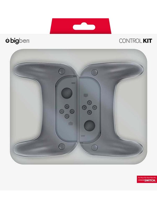 Image of   BigBen Interactive Switch Joy-Con grips x2 Stick caps x2 - Tilbehør til spillekonsol - Nintendo Switch