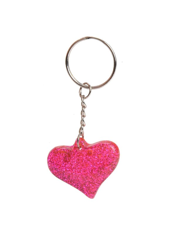 Image of   - Unknown Key Ring-Glitter Heart