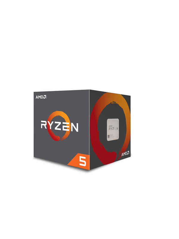 Image of   AMD Ryzen 5 2600 with Wraith Stealth - Pinnacle Ridge CPU - 6 kerner 3.4 GHz - AMD AM4 - AMD Boxed (PIB - med køler)