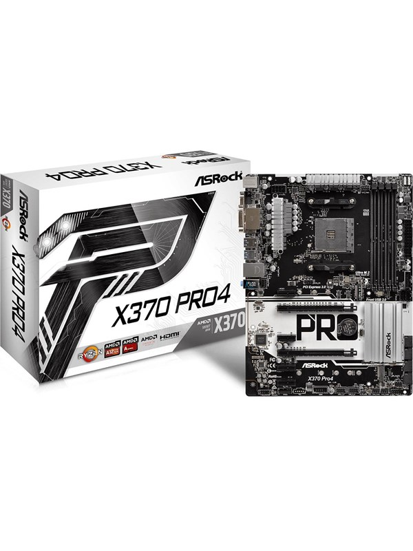 Image of   ASRock X370 Pro4 Bundkort - AMD X370 - AMD AM4 socket - DDR4 RAM - ATX