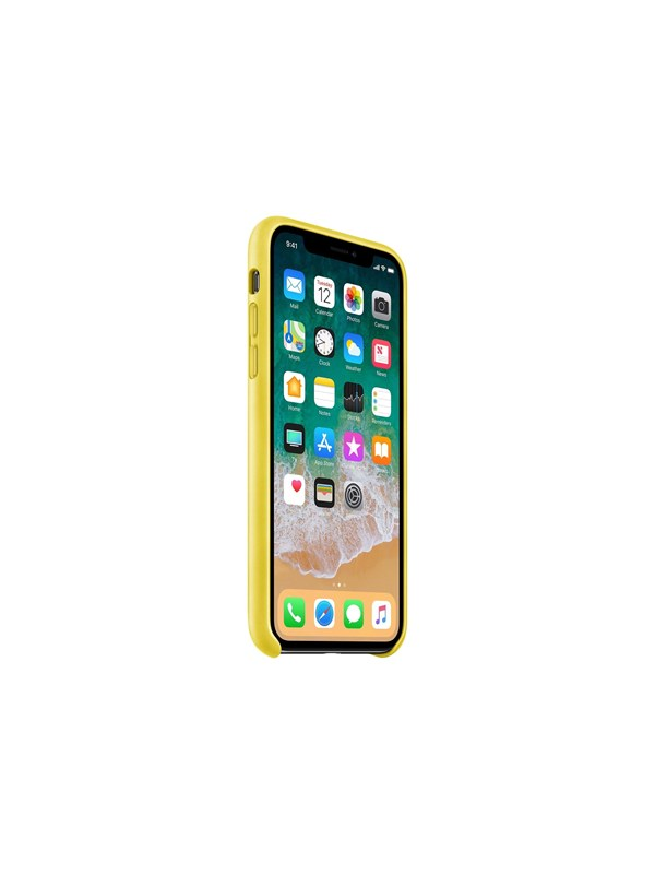 Image of   Apple iPhone X Leather Case - Spring Yellow