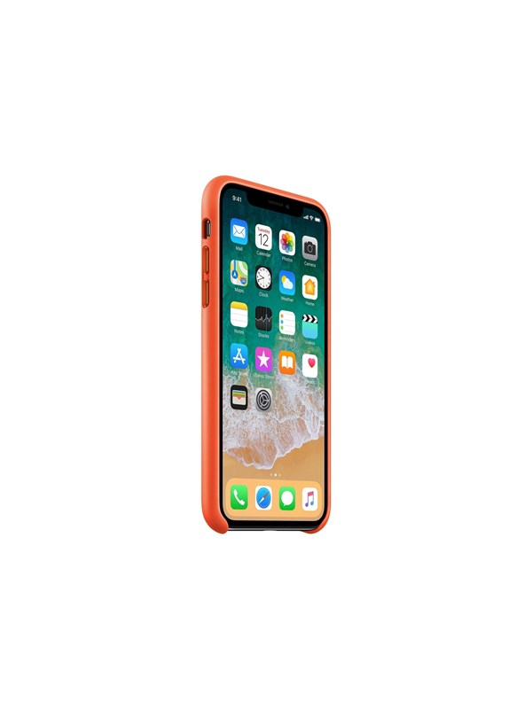 Image of   Apple iPhone X Leather Case - Bright Orange