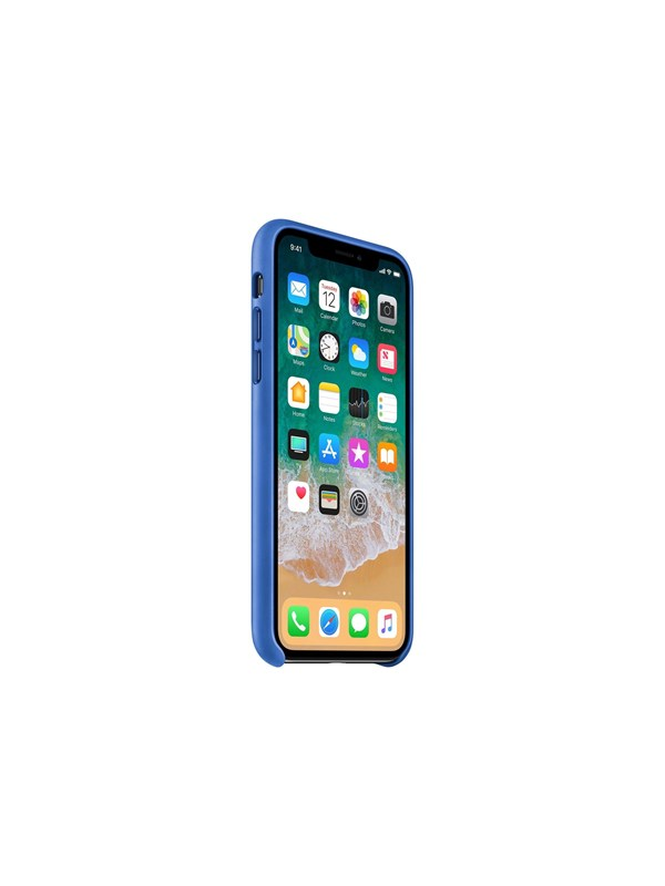 Image of   Apple iPhone X Leather Case - Electric Blue