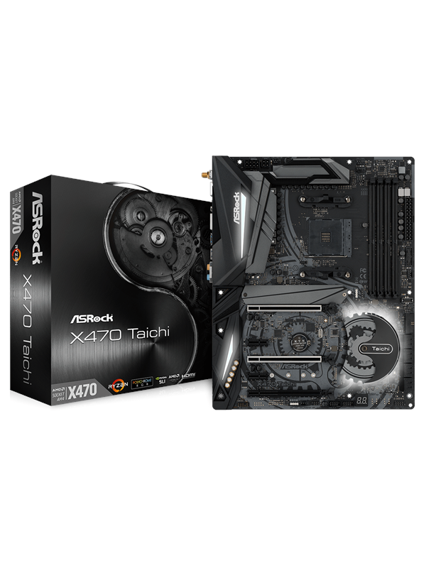 Image of   ASRock X470 TAICHI Bundkort - AMD X470 - AMD AM4 socket - DDR4 RAM - ATX
