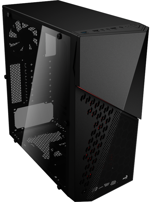 Image of   AeroCool CyberX Advance - Kabinet - Miditower - Sort
