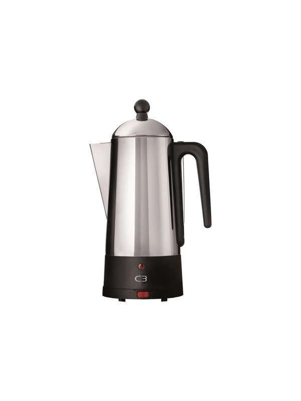 Image of   C3 Design Eco - electric percolator - black/brushed stainless steel