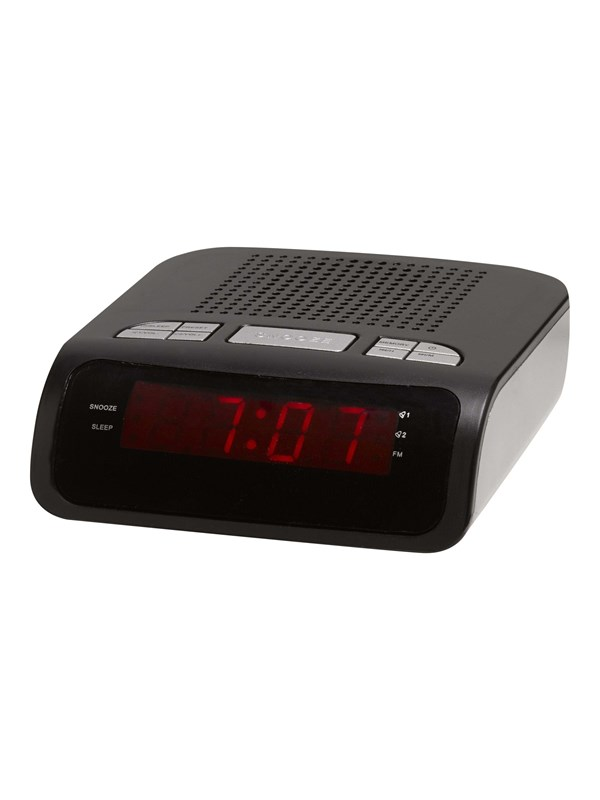Image of   DENVER Bærbar radio CR-419MK2 - clock radio - FM - Sort