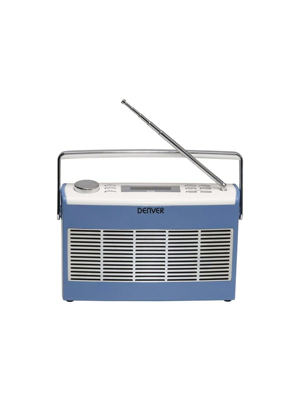 Image of   DENVER Bærbar radio DAB-37 - DAB portable radio - Blå