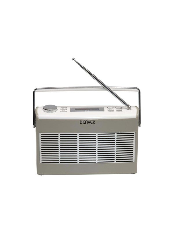 Image of   DENVER Bærbar radio DAB-37 - DAB portable radio - Grå