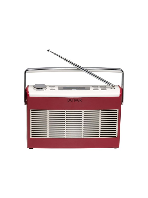 Image of   DENVER Bærbar radio DAB-37 - DAB portable radio - Rød