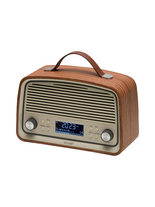 Image of   DENVER Bærbar radio DAB-38 - DAB portable radio - Brun