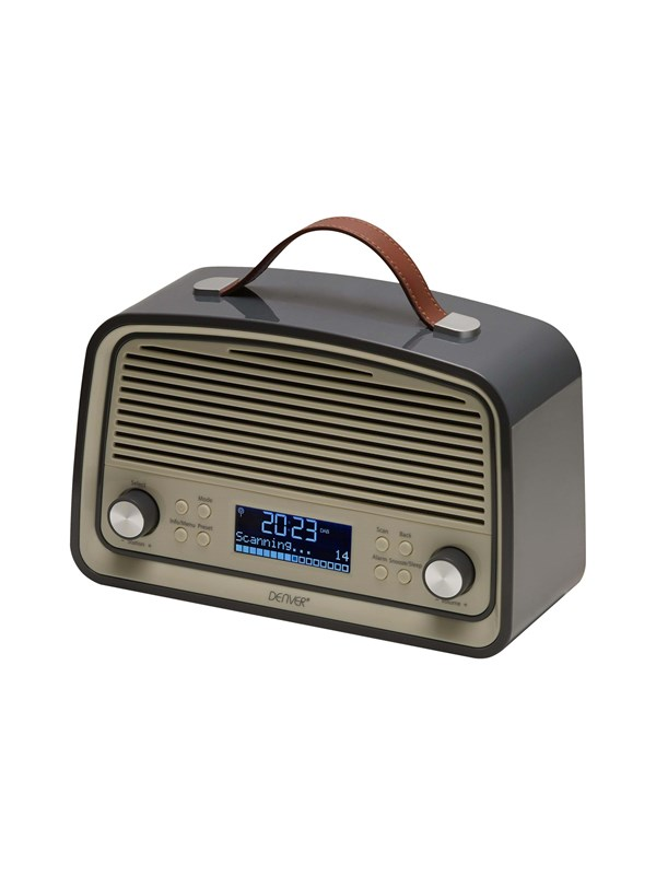 Image of   DENVER Bærbar radio DAB-38 - DAB portable radio - Grå