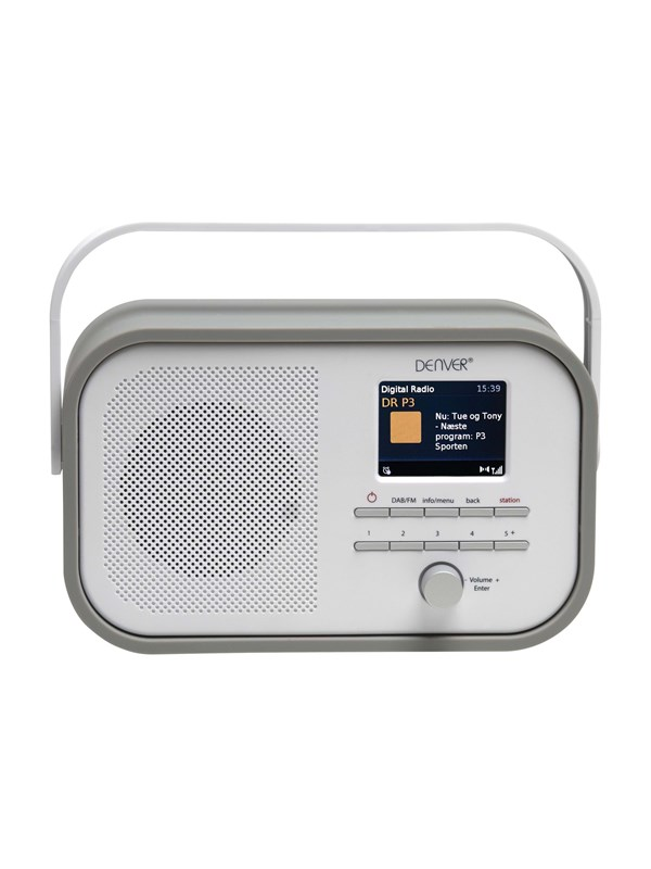 Image of   DENVER Bærbar radio DAB-40 - DAB portable radio - Grå