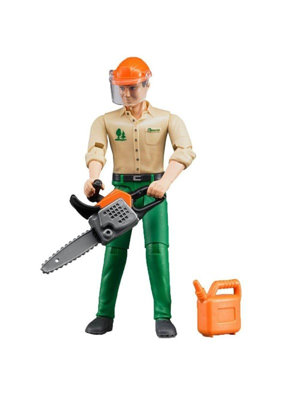 Image of   Bruder Forestry worker with accessories
