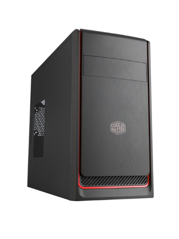 Image of   Cooler Master MasterBox E300L - Red - Kabinet - Minitower - Sort