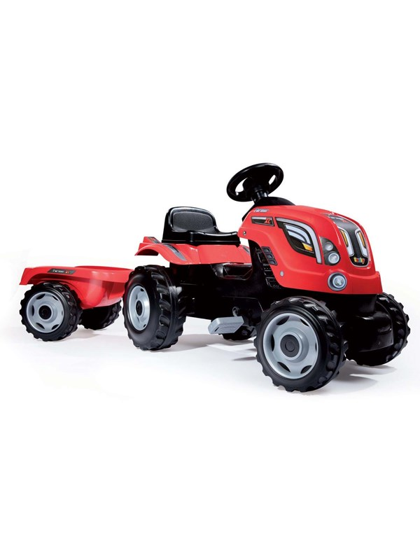 Image of   Smoby Tractor with Trailer-Red