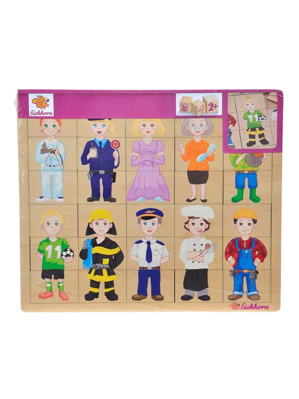 Image of   Eichhorn Wooden Puzzle - Professions 30st.