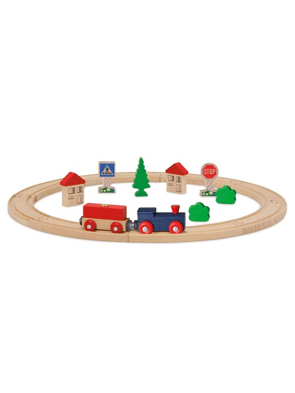 Image of   Eichhorn Train Set with Accessories 20dlg.
