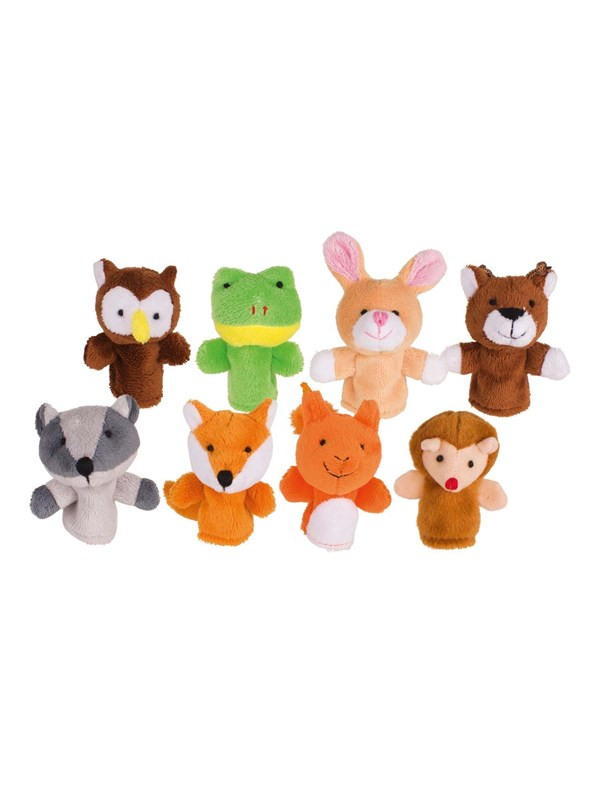 Image of   Goki Finger puppets Forest animals 8st.