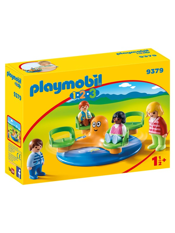 Image of   Playmobil 1.2.3 - Børnekarrusel