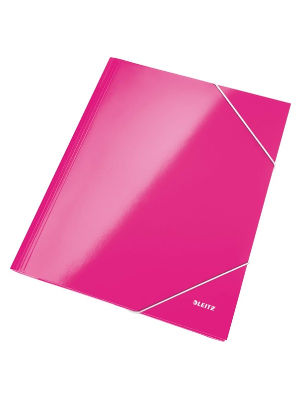 Image of   Leitz 3-klap mappe Leitz WOW pap A4 pink