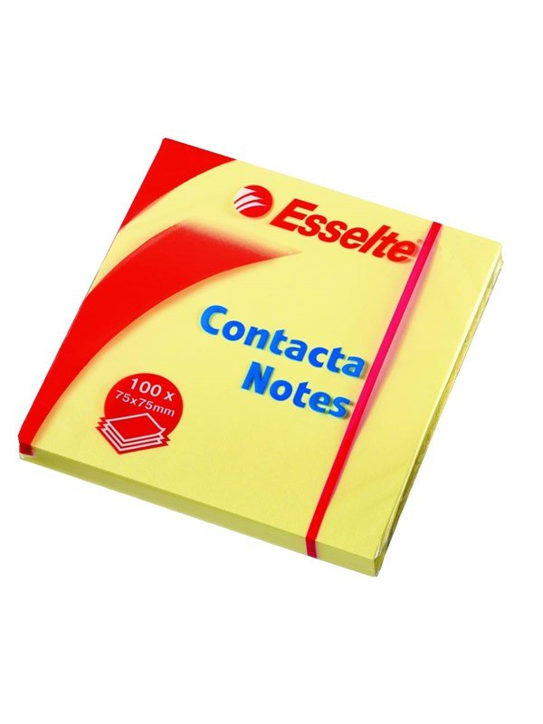 Image of   Esselte Contacta Notes 75x75mm gul