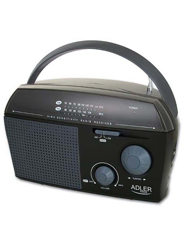 Image of   Adler Radio - AM/FM - Sort