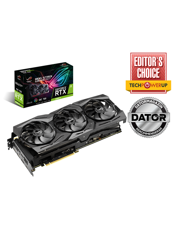 Image of   ASUS GeForce RTX 2080 Ti ROG STRIX OC - 11GB GDDR6 RAM - Grafikkort