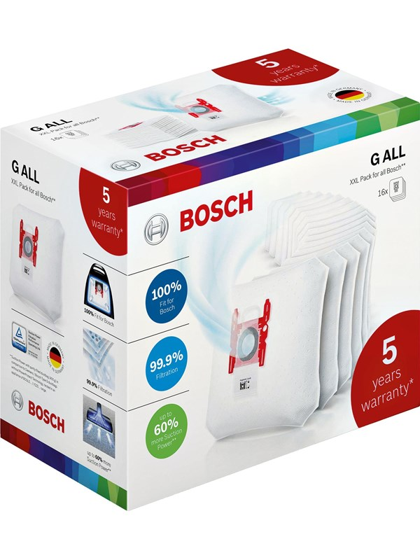 Image of   Bosch BBZ16WGALL Type G All XXL 16-pack + extended warranty