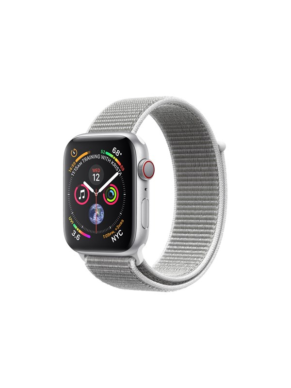 Image of   Apple Watch Series 4 (GPS + Cellular) 44mm - Silver Alu with White Sport Loop Band