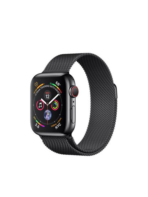 Image of   Apple Watch Series 4 (GPS + Cellular) 40mm - Space Black Stainless Steel with Black Milaneese Loop