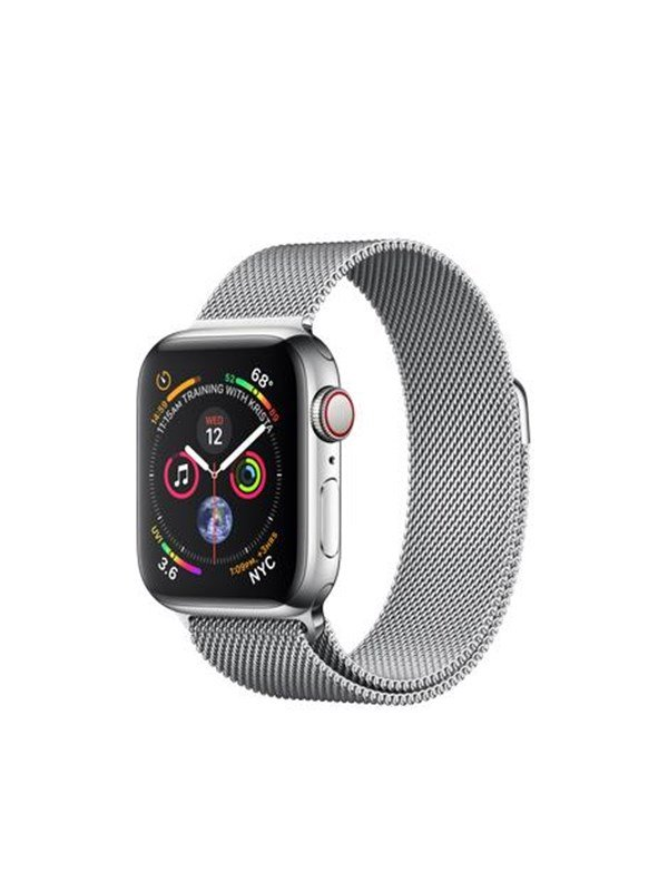 Image of   Apple Watch Series 4 (GPS + Cellular) 40mm - Stainless Steel with Milaneese Loop