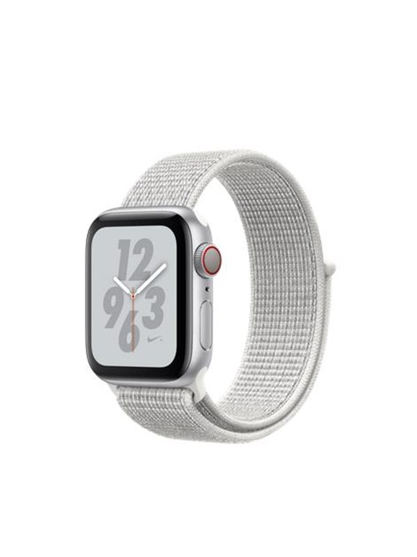 Image of   Apple Watch Nike+ Series 4 (GPS + Cellular) 40mm - Silver Alu with White Nike Sport Loop Band
