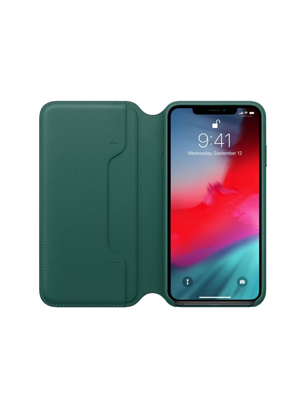 Image of   Apple iPhone XS Max Leather Folio - Forest Green