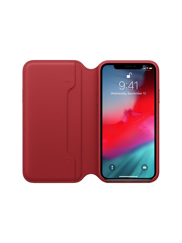 Image of   Apple iPhone XS Leather Folio - (PRODUCT)RED