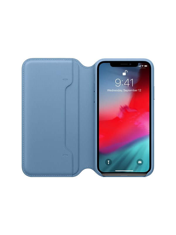 Image of   Apple iPhone XS Leather Folio - Cape Cod Blue