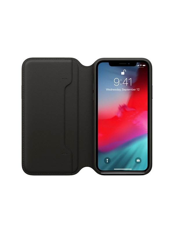 Image of   Apple iPhone XS Leather Folio - Black