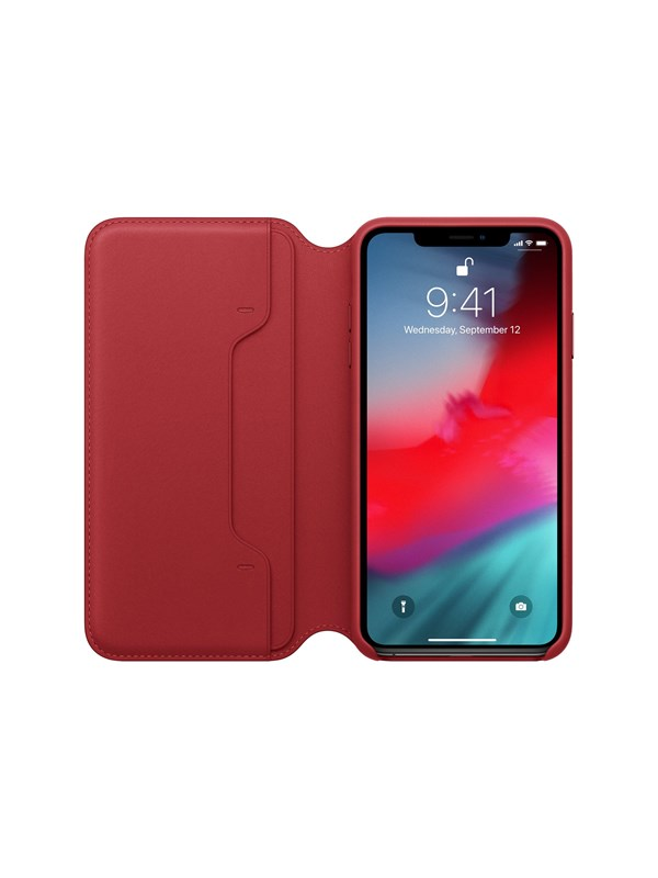 Image of   Apple iPhone XS Max Leather Folio - (PRODUCT)RED