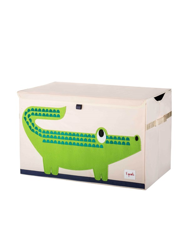 Image of   3 Sprouts 3 Sprouts Opbevaringskasse med låg, Crocodile - Furniture & Storage