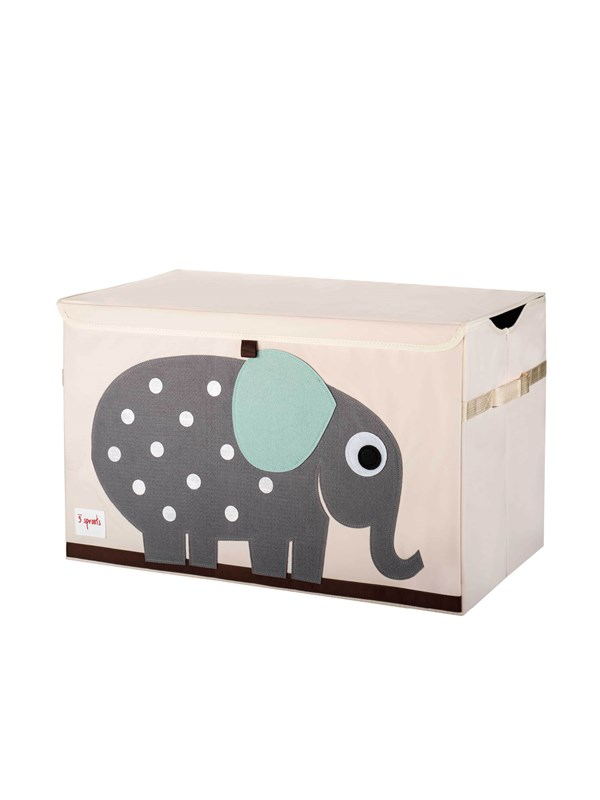 Image of   3 Sprouts 3 Sprouts Opbevaringskasse med låg, Elephant - Furniture & Storage