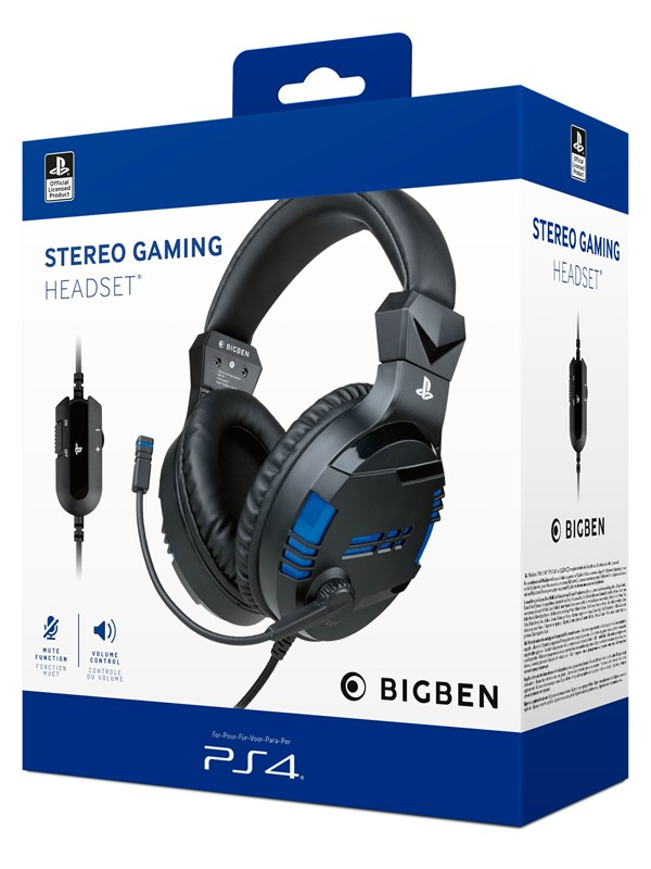 Billede af BigBen Interactive PS4/PS5 Gaming Headset V3 - Black - Headset - Sony PlayStation 4