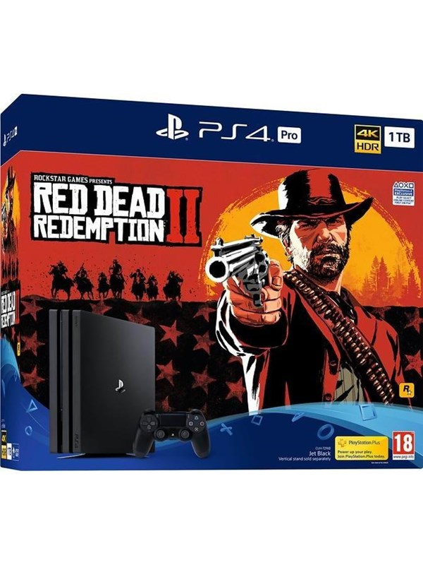 Image of   Sony Playstation 4 Pro - 1 TB CUH 7200 series (Red Dead Redemption 2 Bundle)