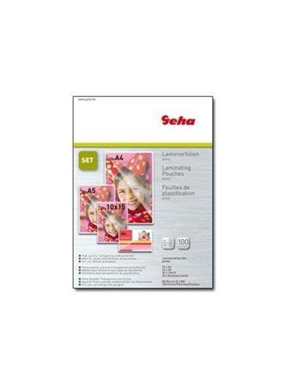 Image of   Geha - 100-pack - glossy - lamination pouches