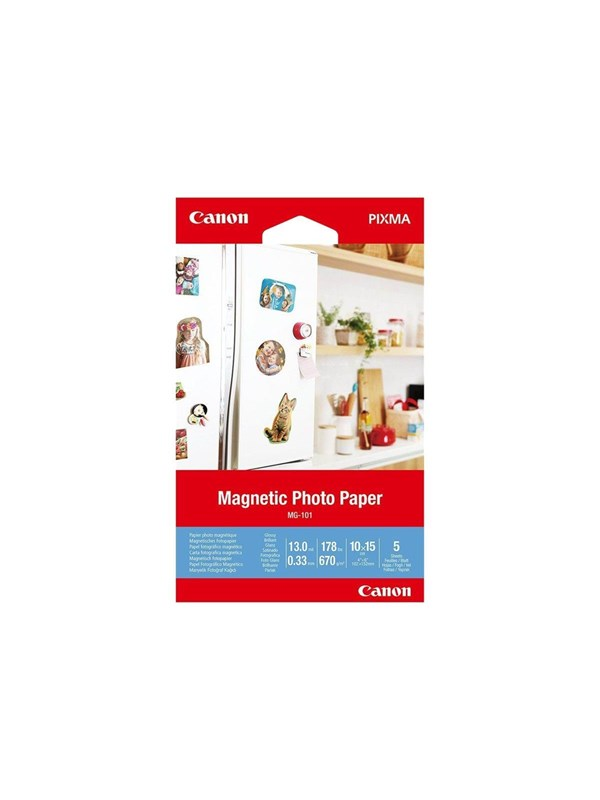 Canon Paper MG-101 Magnectic 10x15cm - 5 sheets